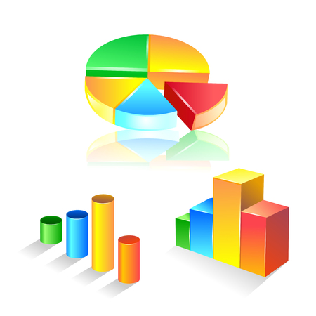 set of graphic chart icon set. Vector Illustration Illustration