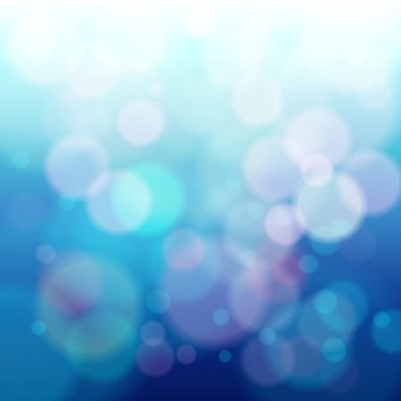 抽象的な青い円形ボケ背景