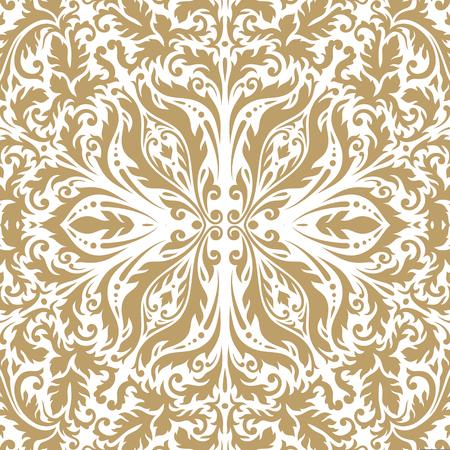 Luxury ornamental vintage Premium background . gold color