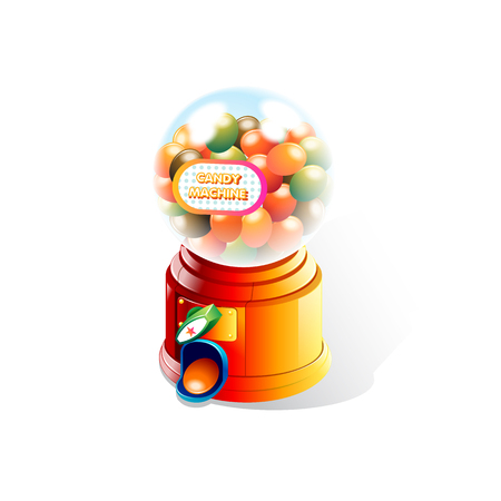 Candy Machine in White Background