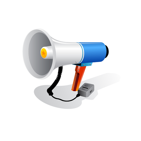 Loudspeaker or megaphone icon isolated on white background. Vector Stock Vector - 77462781