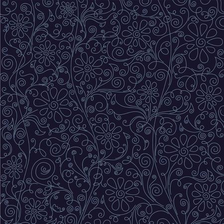 Blumenmuster Hintergrund, Vektor Illustration. Standard-Bild - 77462789