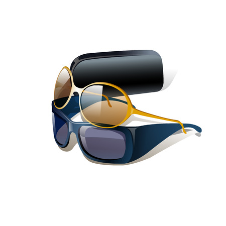 Cool realistic glasses. Isolated on white background. Flat vector illustration.
