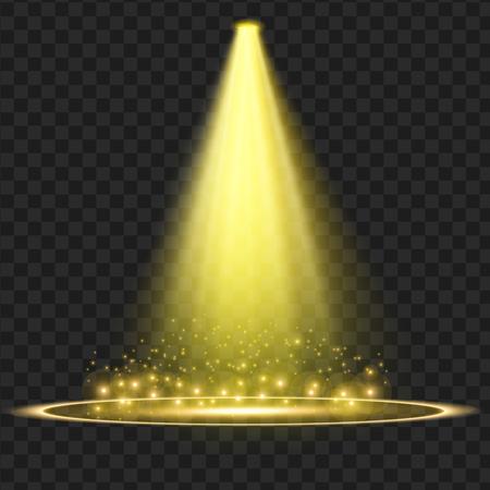 Gele Vector schijnwerper. Licht effect. vector illustratie Stockfoto - 77612271