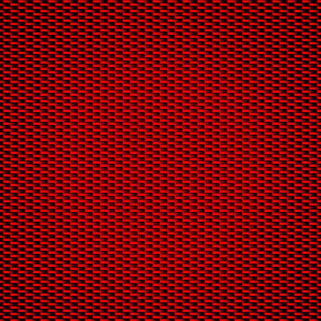 Red carbon fiber background Seamless Patterns. Vector Illustration