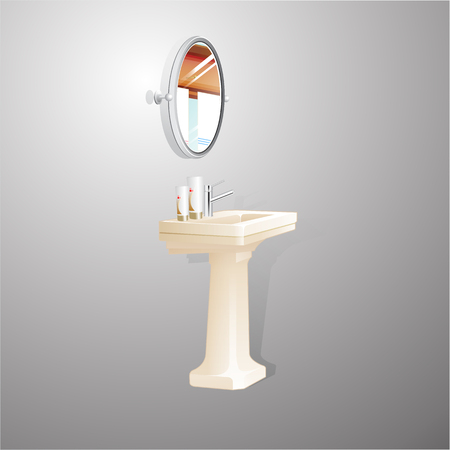 washstand isolated on white background. Vector Illustration. Illustration