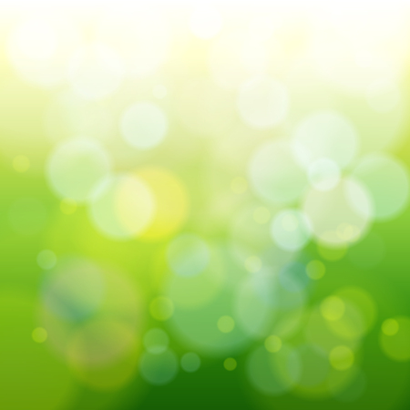An abstract green spring blur background vector illustration