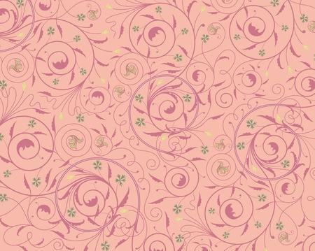 dusky: A Seamless purple floral wallpaper Illustration