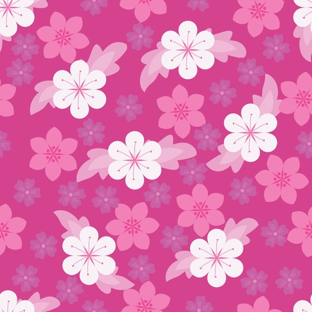 A Seamless purple floral wallpaper Illustration