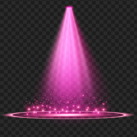 Paarse vector spotlight. Licht effect. Vector illustratie Stockfoto - 78530109