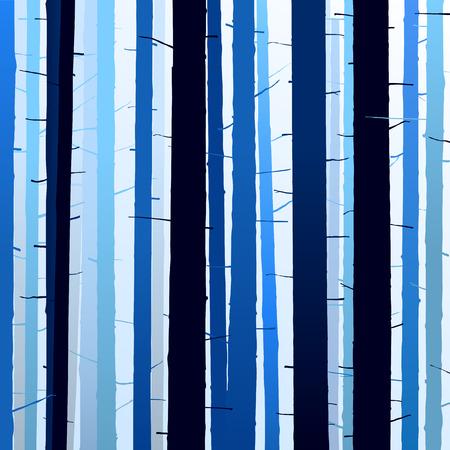 シルエット ツリー青暗い明るい背景のグループ
