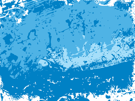 Background with blue grunge texture. Vector illustration. Ilustração