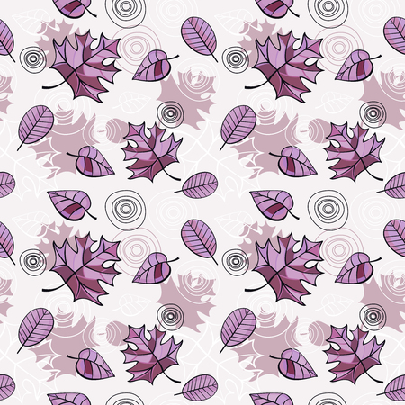 Vector seamless pattern with romantic floral background. Subtle pastel tints and elegant linear ornament. Banco de Imagens - 80951531