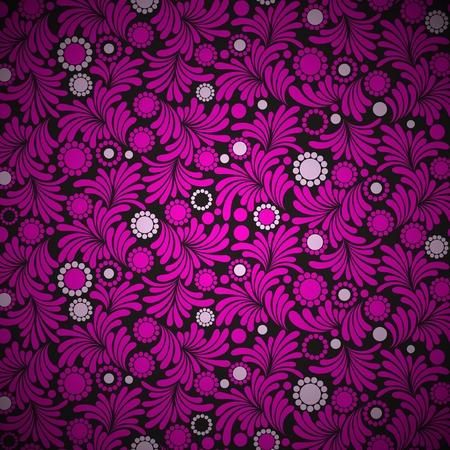 Seamless purple floral wallpaper Imagens - 81005246