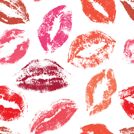 키스 원활한 벡터 패턴입니다. 입술 패턴
