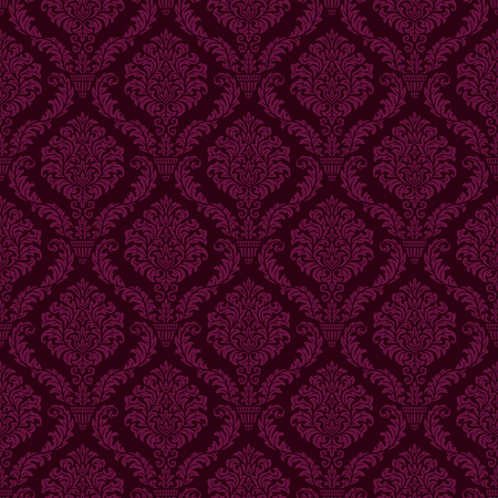 luxury ornamental background. purple Damask floral pattern. Royal wallpaper.