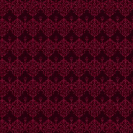 高級装飾用の背景。紫のダマスク織の花柄。ロイヤルの壁紙。  イラスト・ベクター素材