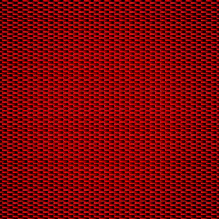 Fondo rojo de la fibra del carbón Modelos Inconsútiles. Ilustración vectorial