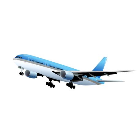 airplane isolated on white Illustration