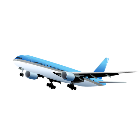 airplane isolated on white Stock Illustratie