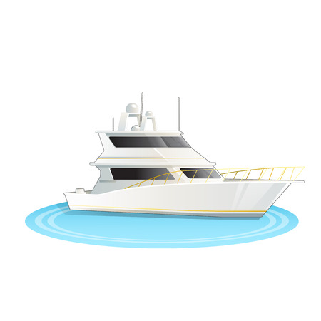 Stock Vector illustration of cruise ship isolated Иллюстрация
