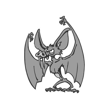 Bat cartoon character. Vector Illustration