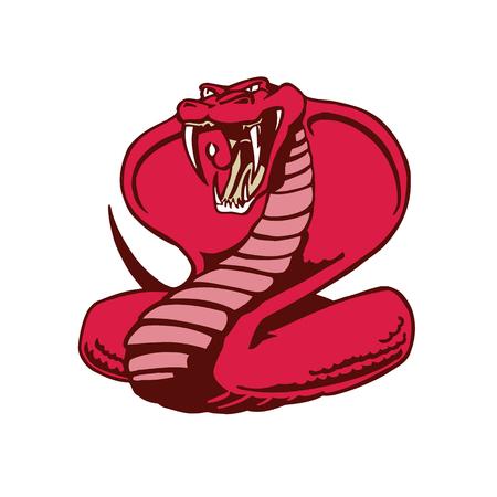 코브라 뱀 마스코트.
