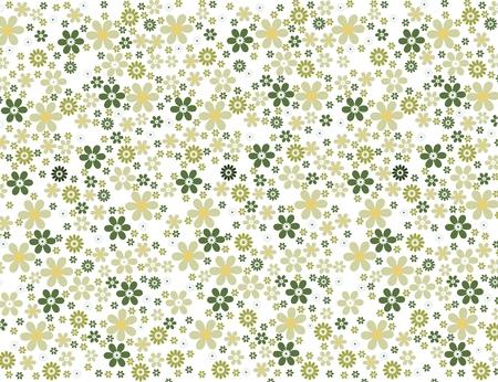 シームレスな緑花の壁紙