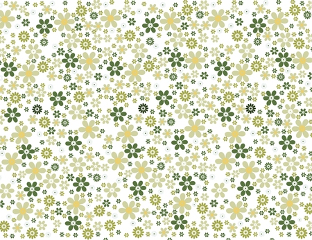 Seamless green floral wallpaper Illustration