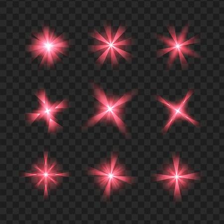 紫の輝きの効果グラフィック光と星します。透明なデザイン要素の背景。