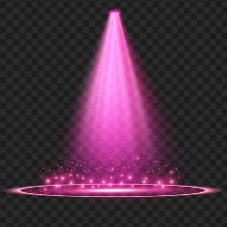 purple Vector spotlight . Light effect. vector Illustration