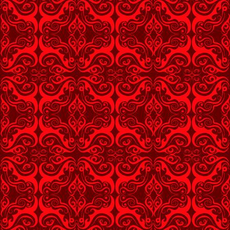 高級装飾用の背景。ダマスク織花柄。ロイヤルの壁紙。  イラスト・ベクター素材