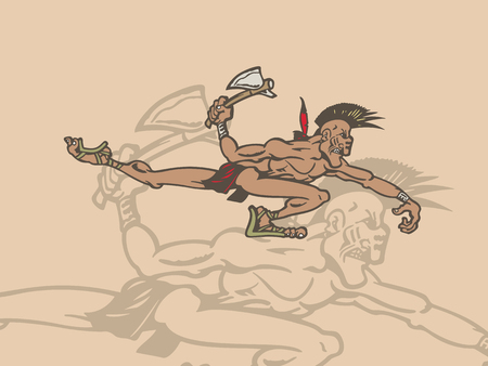 Personaggio dei cartoni animati di persone indiane. Illustrazione vettoriale Archivio Fotografico - 81062312