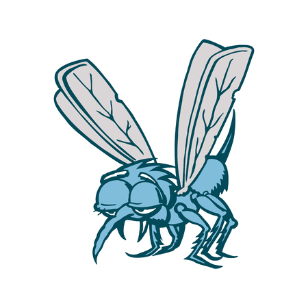 蚊の漫画。ベクトルの図。