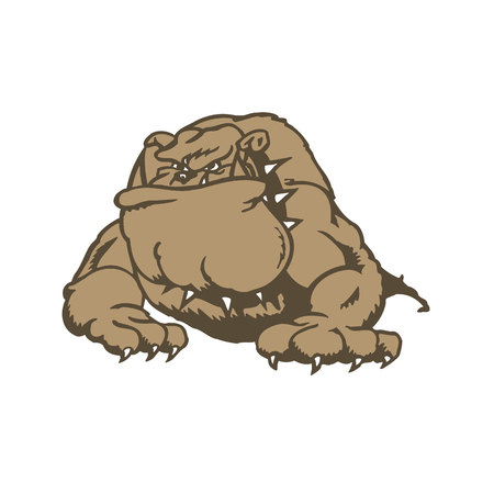 Dog cartoon character. Vector Illustration.