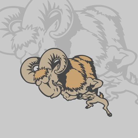 ヤギの漫画のキャラクター。