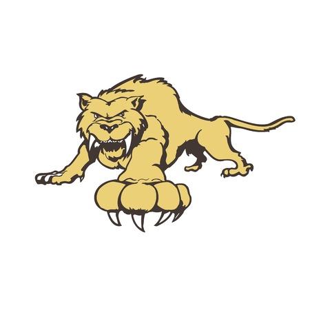Tiger cartoon character.