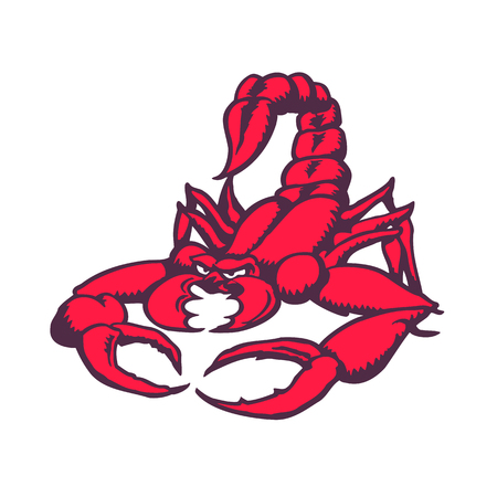 Scorpion cartoon character. Vector Illustration.