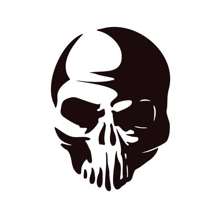 head skull silhouette. Vector Illustration. Illustration