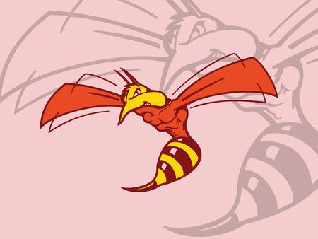 蜂の漫画のキャラクター。ベクトルの図。  イラスト・ベクター素材