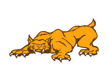 tigress: Tiger cartoon character. Vector Illustration.