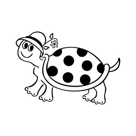 A funny turtle cartoon.