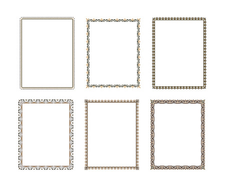 Vector decorative frame. Elegant element for design template, place for text. Floral border. Lace decor for birthday and greeting card, wedding invitation. Vetores