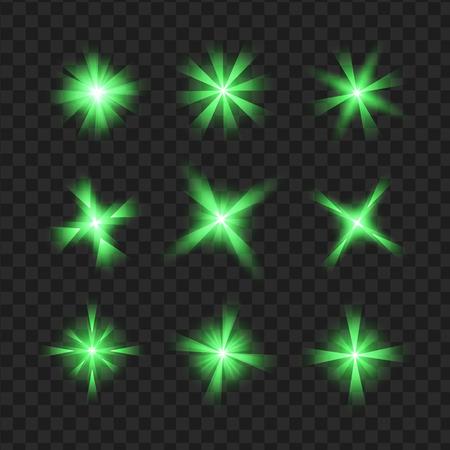 Abstracte groene van het de lenteonduidelijk beeld vectorillustratie als achtergrond Stock Illustratie
