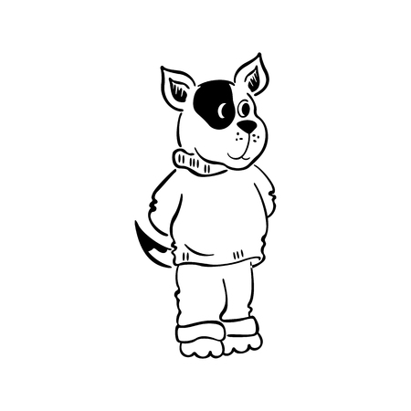 A dog stand character.