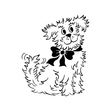 Cartoon hond illustratie.