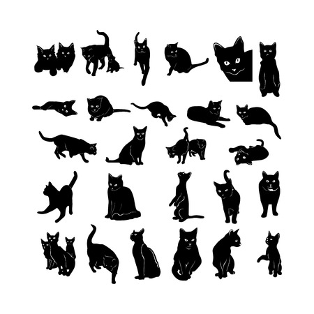 Animal silhouette collection.