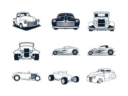 Verzameling klassieke auto's