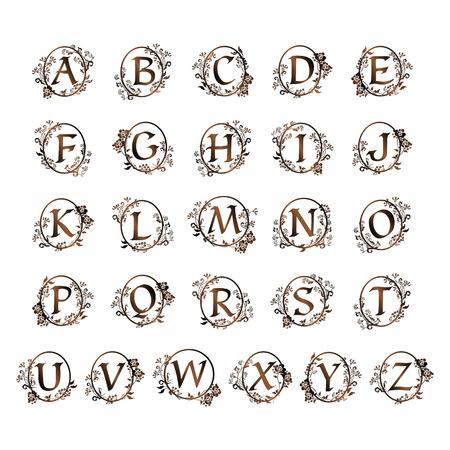 장식용 알파벳 디자인입니다.