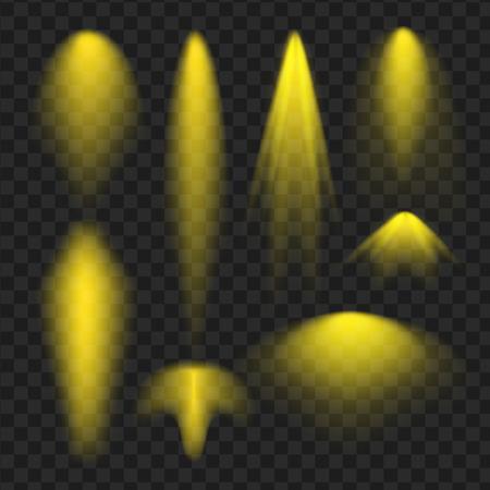 A yellow spotlight. Light effect. Stock Vector - 81063971